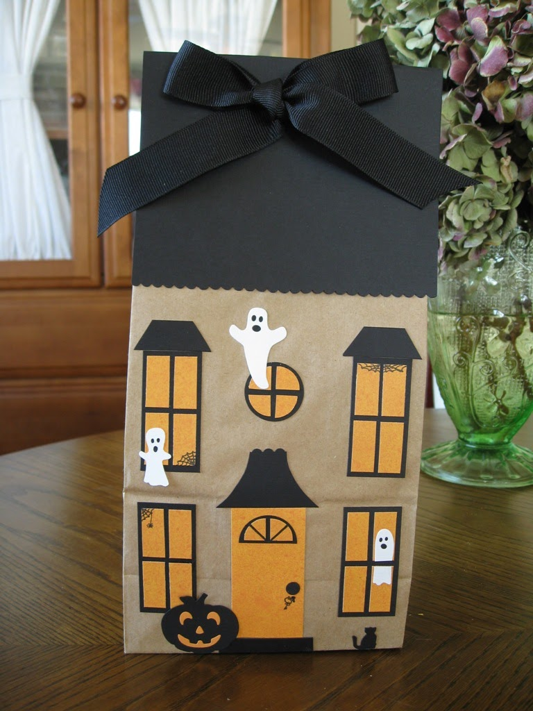 Haunted House Paper Bag