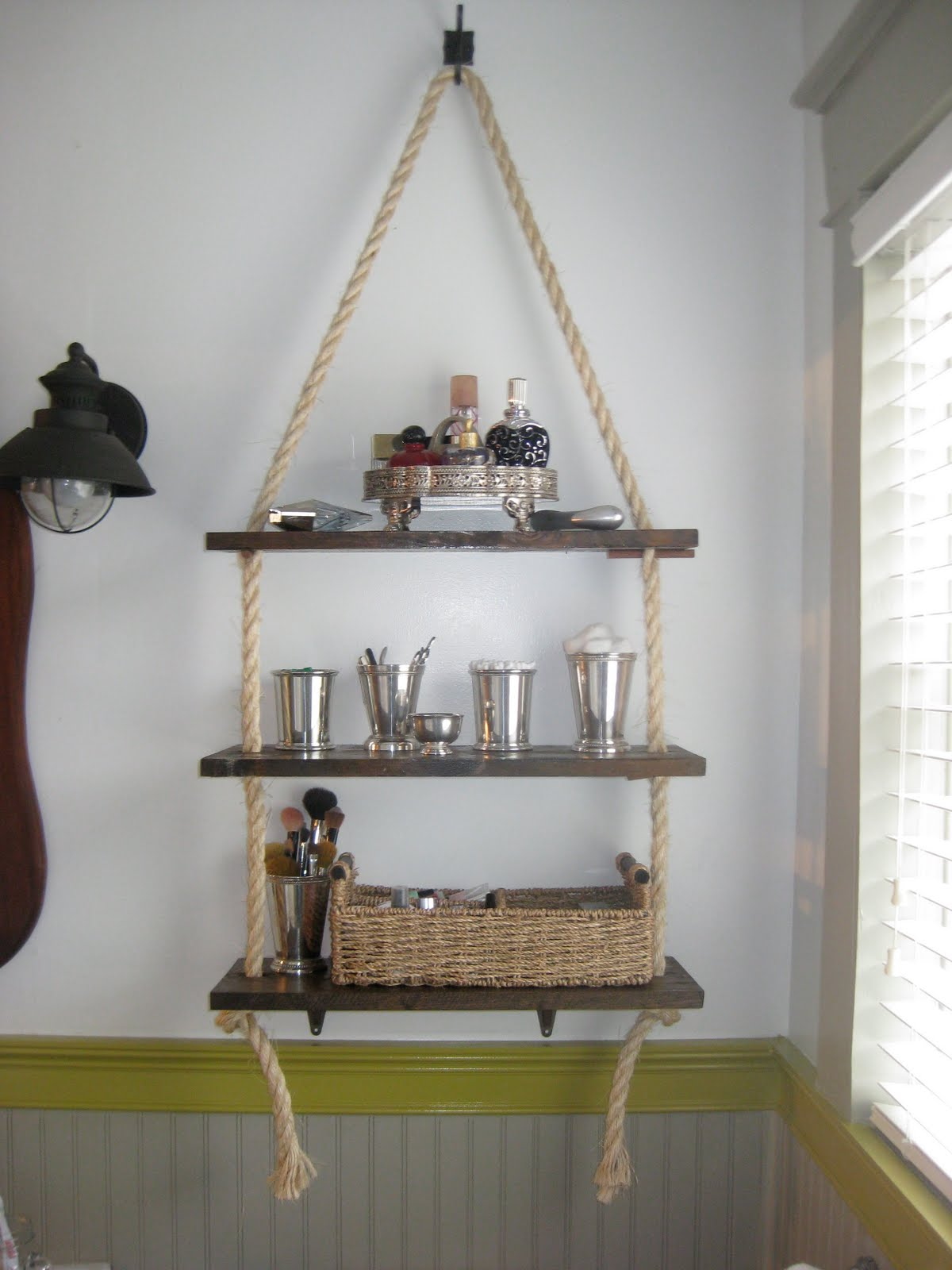 Plank and rope shelving