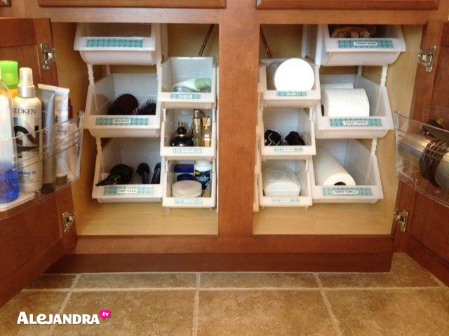 Stackable bin cupboard storage