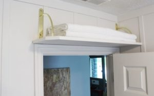 Storage shelf above the door