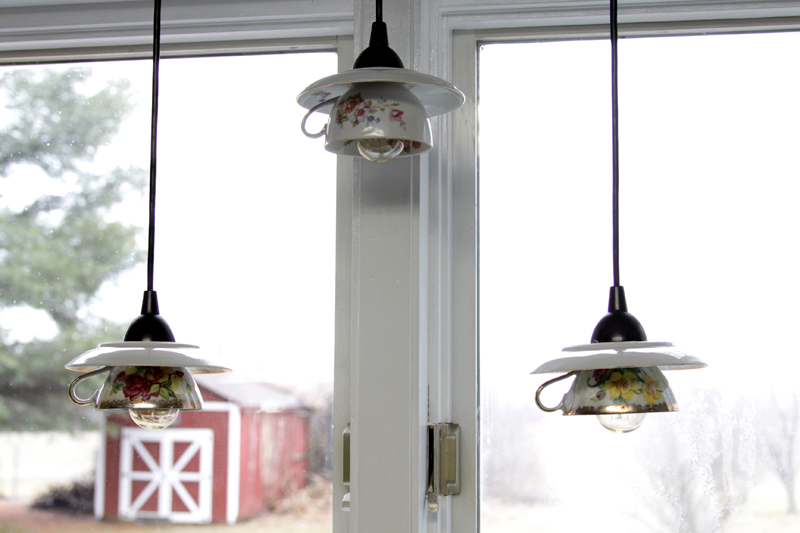 Teacup Pendant Light Shades