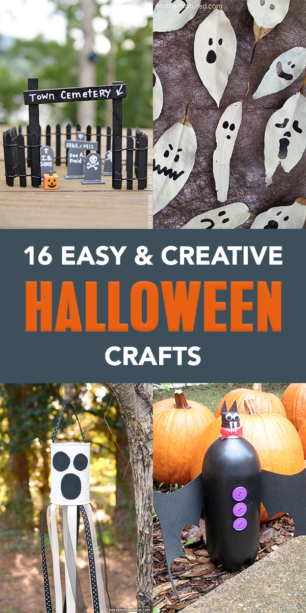 16 Easy and Creative Halloween Crafts