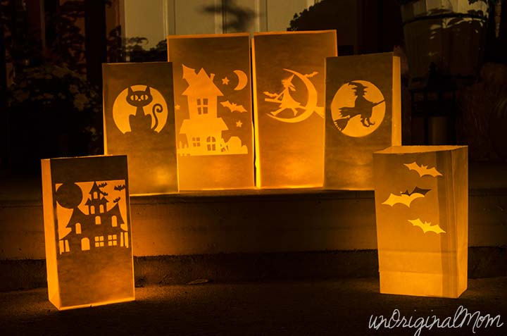 Halloween Paper Bag Luminaries