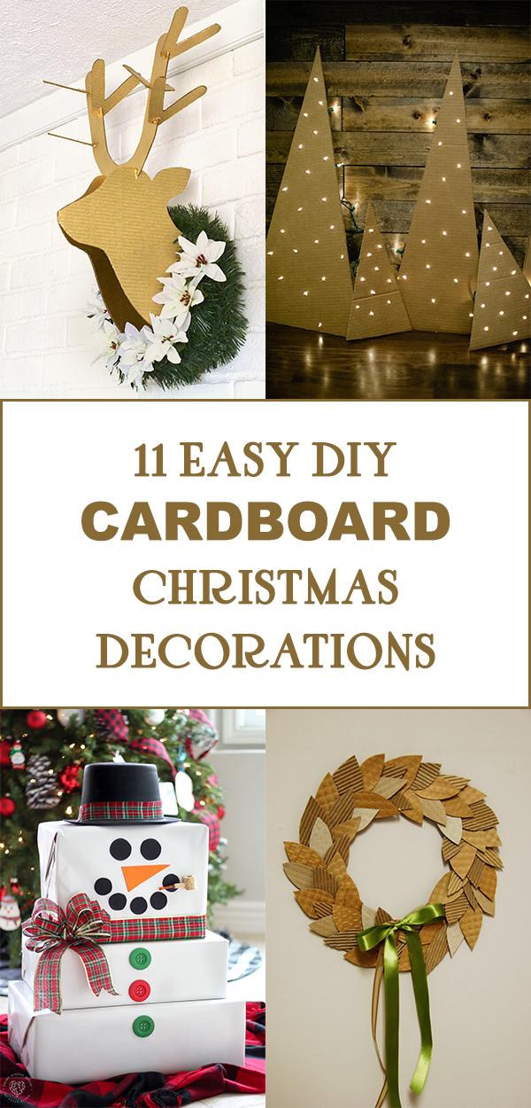 11 Easy DIY Cardboard Christmas Decorations
