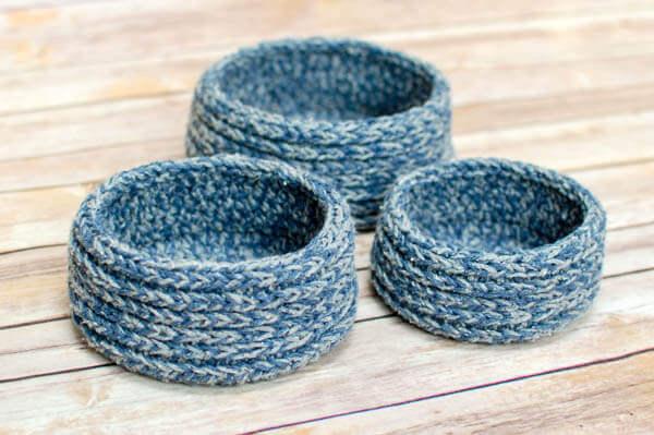 Chunky Nesting Baskets Crochet Pattern