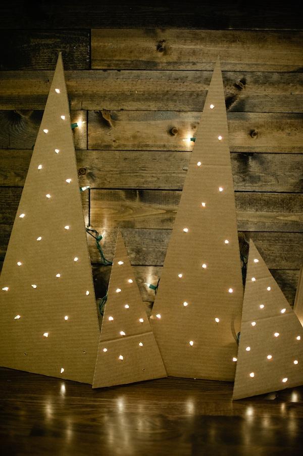 Flat Cardboard Christmas Trees