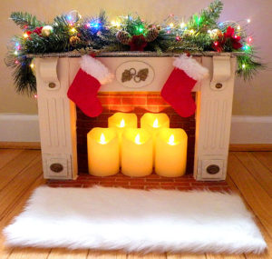 Mini Faux Fireplace