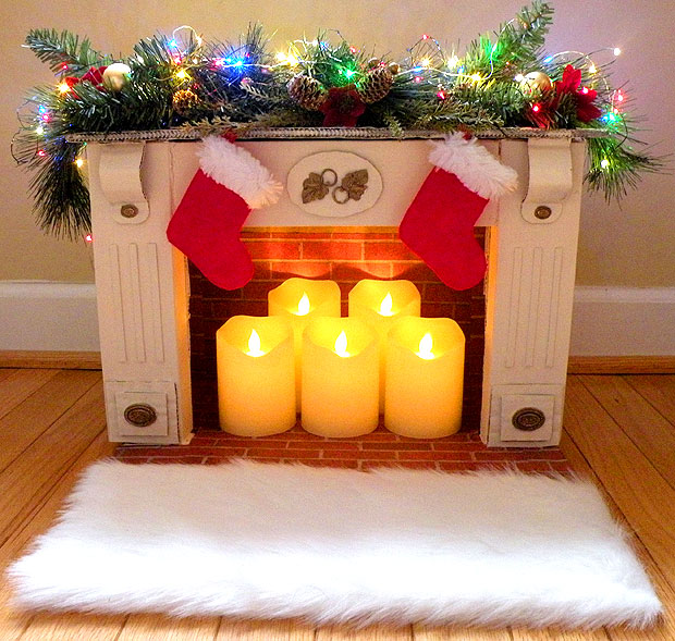 Mini Faux Fireplace