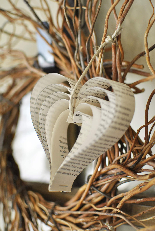 Paper Book Ornaments