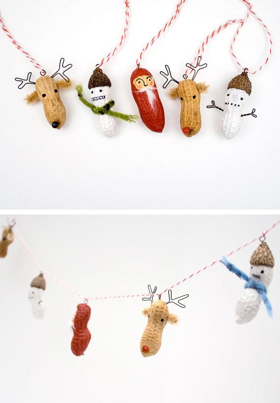 Peanut Christmas garland