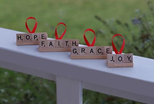 Personalized Scrabble Ornaments