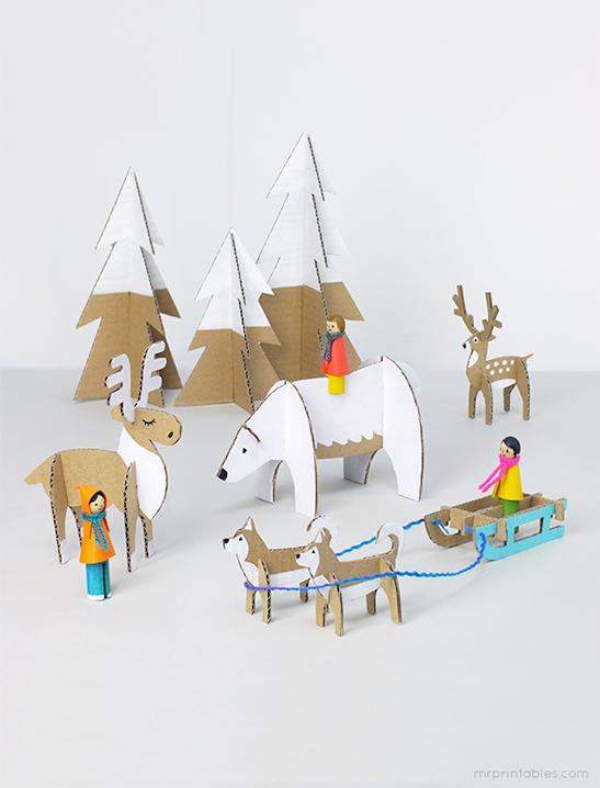 Winter Wonderland Animal Scene