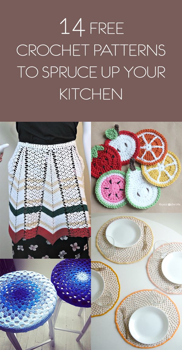 14 Free Crochet Patterns To Spruce Up Your Kitchen