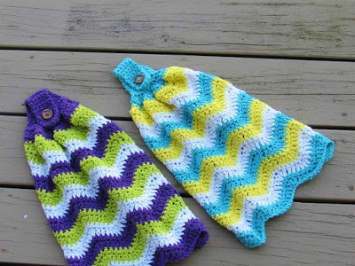 Chevron Kitchen Towel Pattern