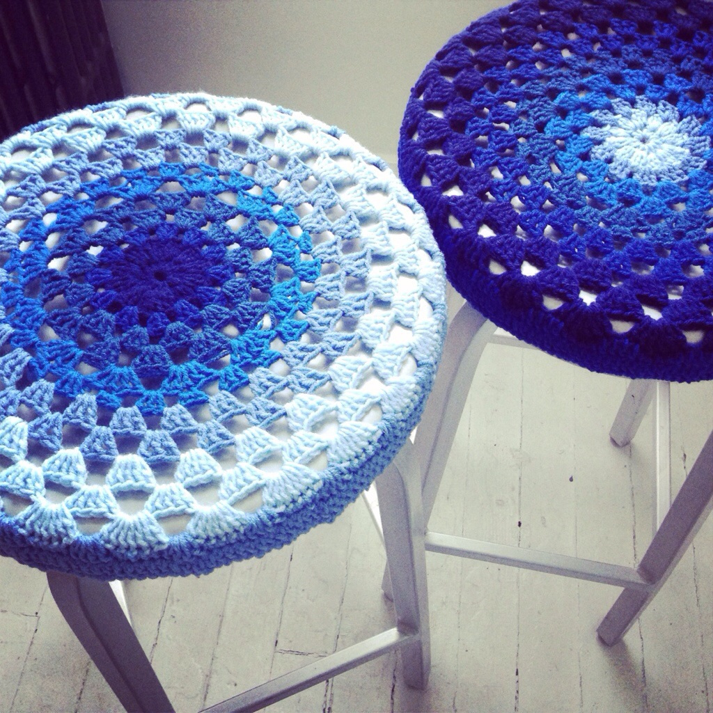 Crochet Bar Stool Covers