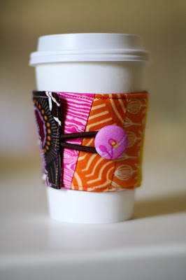 Fabric Coffee Cozy