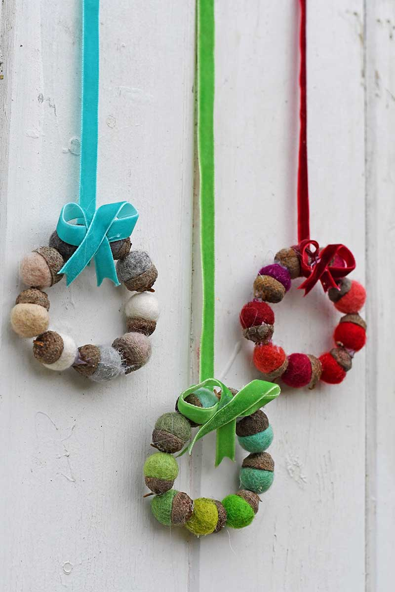 Felt Acorn Mini Christmas Wreaths