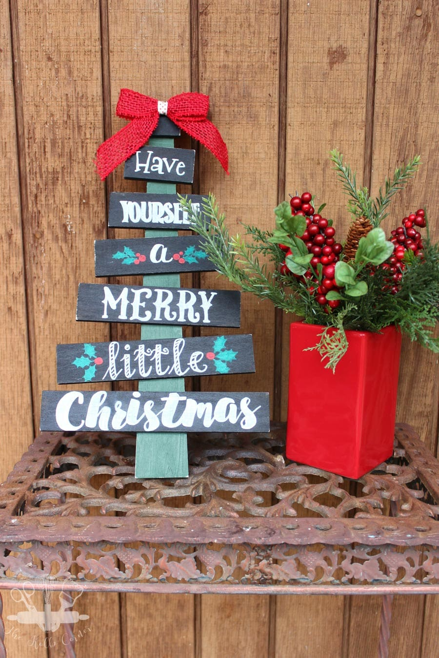 Hand Painted Christmas Tree Sign