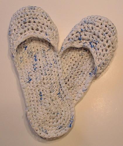 Plastic Bag Sandals