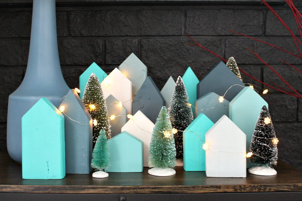 Scrap Wood DIY Holiday Village