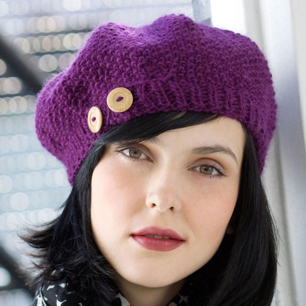 buttoned beret