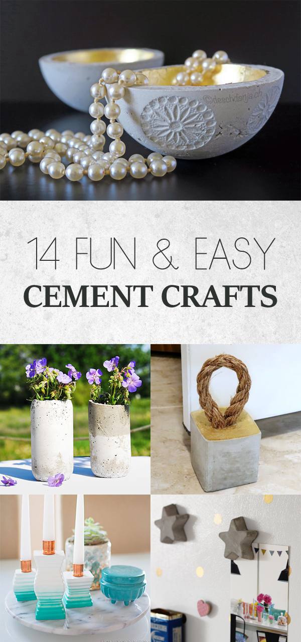14 Fun and Easy Cement Crafts