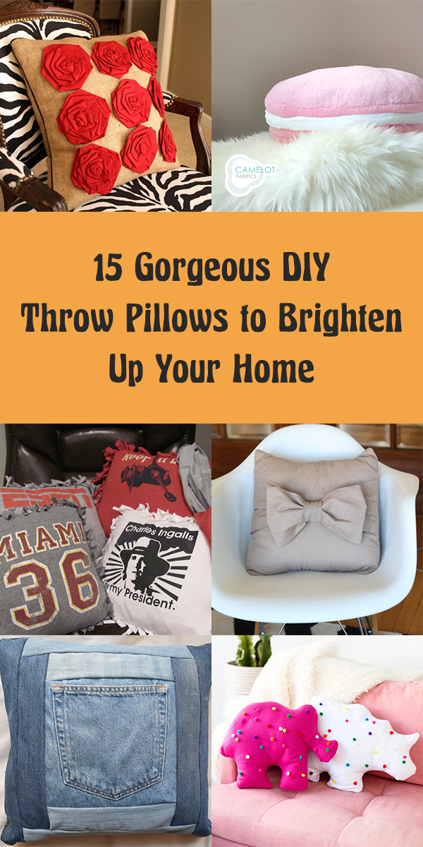 15 Gorgeous DIY Throw Pillows to Brighten Up Your Home