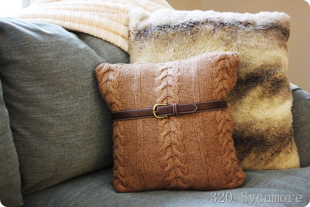 Belted Sweater Pillow