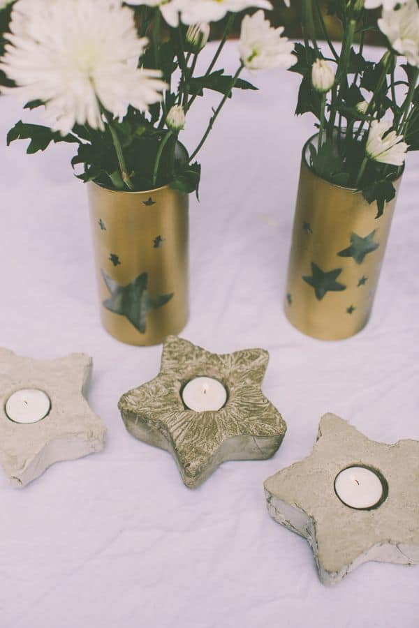Cement Star Votives