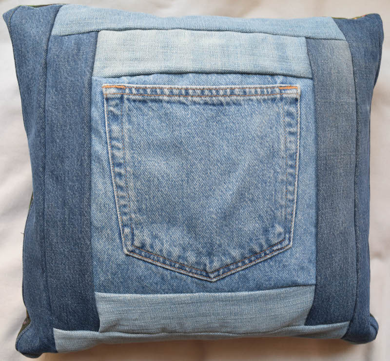 Denim Log Cabin Pocket Pillows