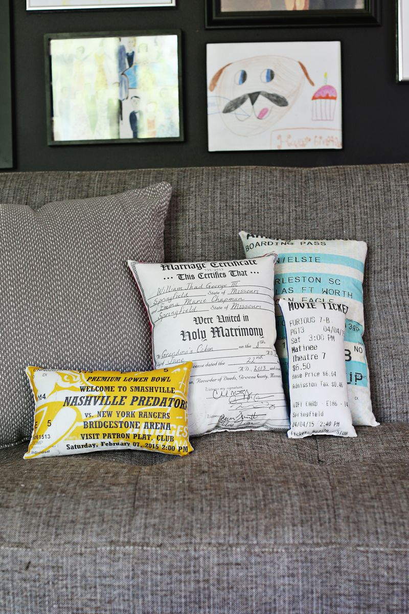 Decorative Document Plush Pillows