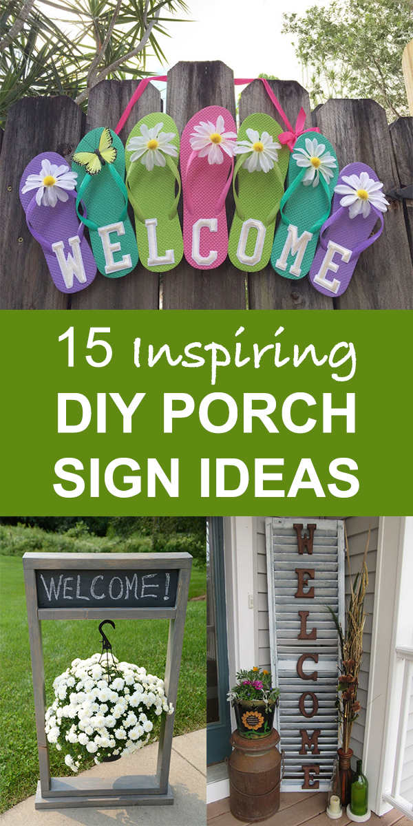 15 Inspiring DIY Porch Sign ideas