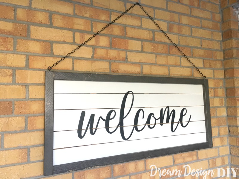 Shiplap Welcome Sign