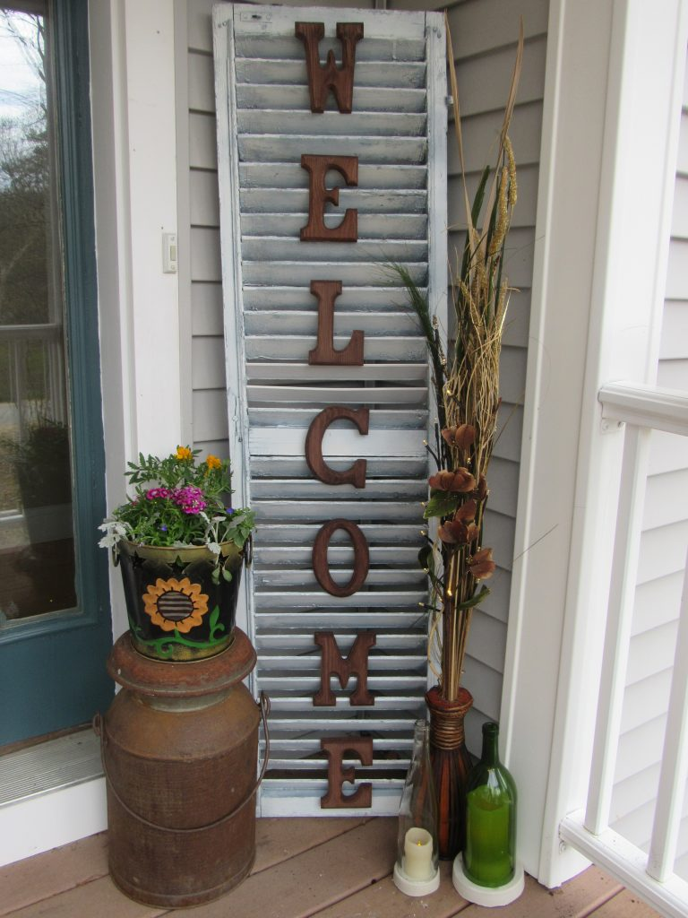 Upcycled Shutter Sign