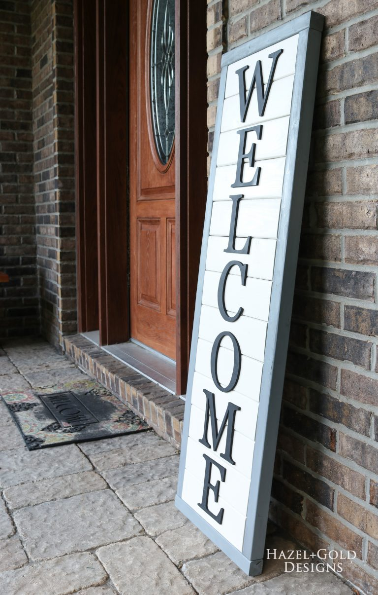 Wooden Welcome Sign Using 2x4s