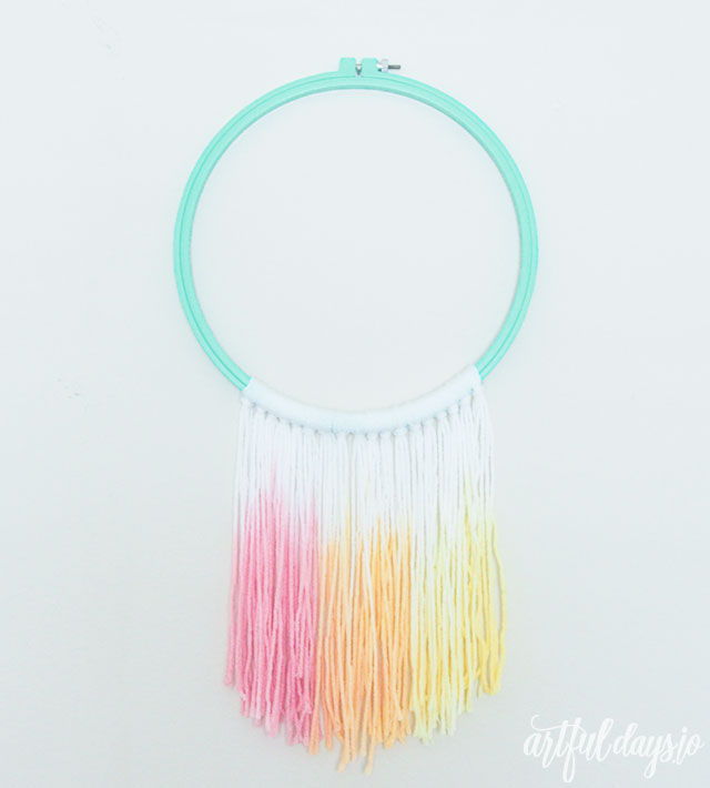 Rainbow Dipped Macrame Wall Hanging