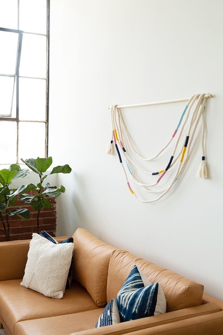 Wrapped Rope Wall Hanging