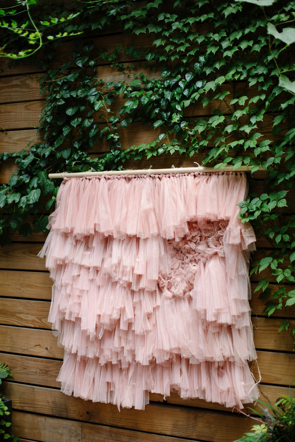 tulle wall hanging