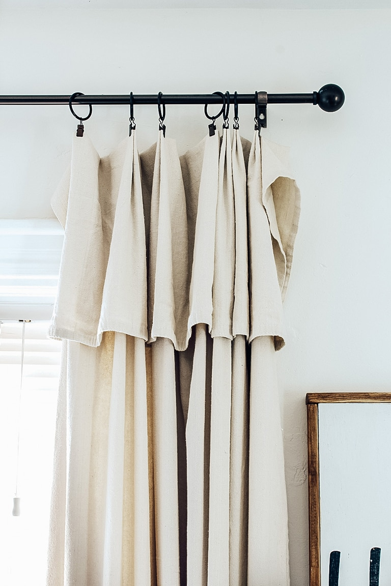 Farmhouse Style Drop Cloth Curtains