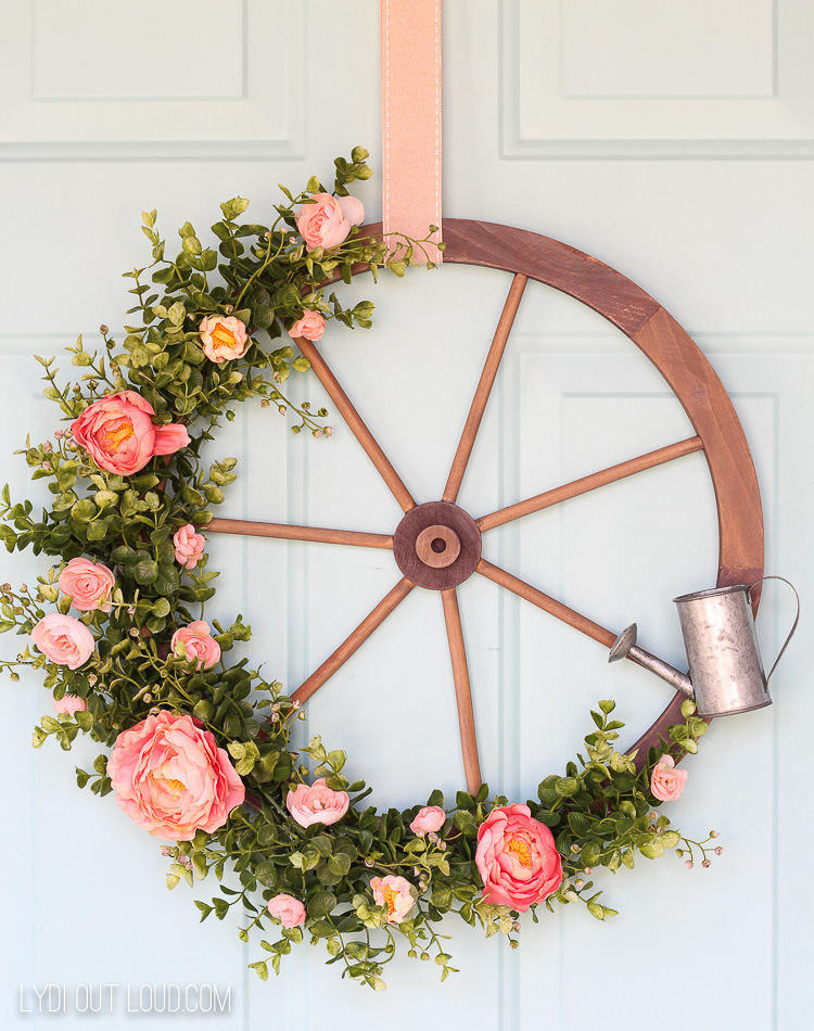 Farmhouse Wagon Wheel Wreath