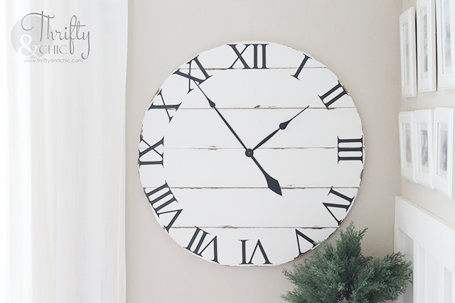 Shiplap Wood Farmhouse Clock