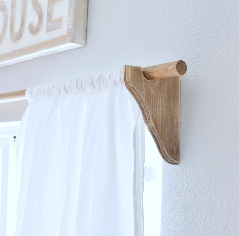 Wood Farmhouse Curtain Rods