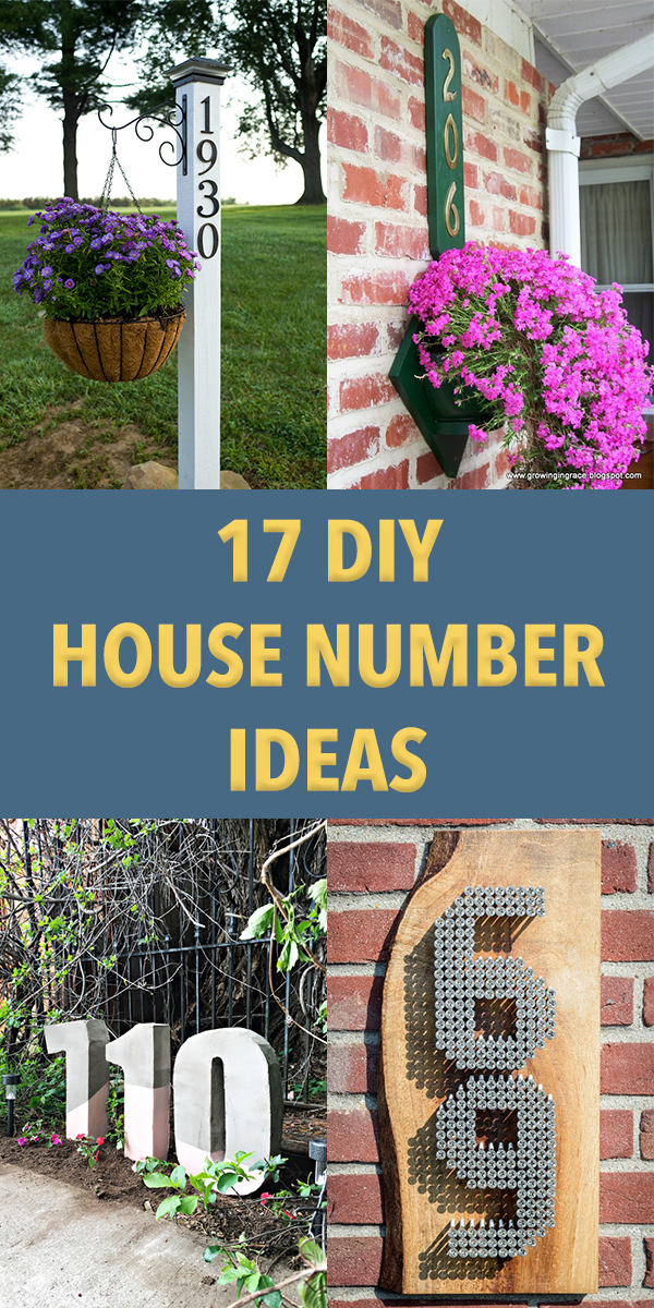 17 DIY House Number Ideas That Look Better Than Store-Bought