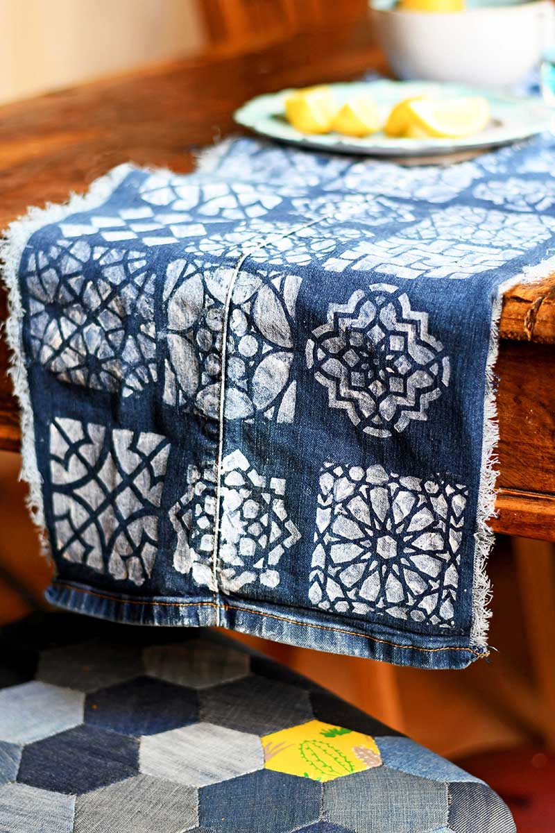 Jeans Table Runner