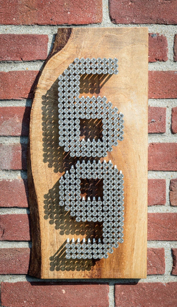 Modern Stainless Steel Home Numbers