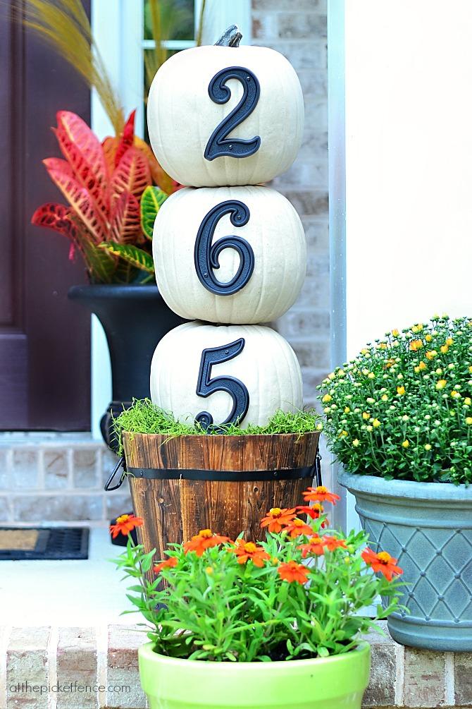 Pumpkin House Numbers