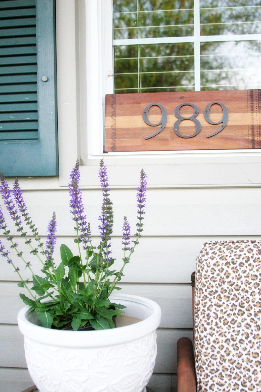 Recycled Cutting Board DIY Address Sign