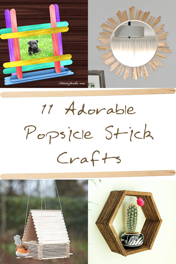 11 Adorable Popsicle Stick Crafts