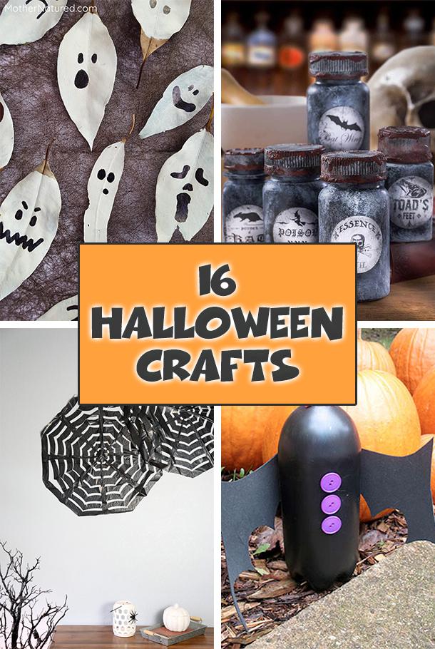 16 Cute & Easy Halloween Crafts