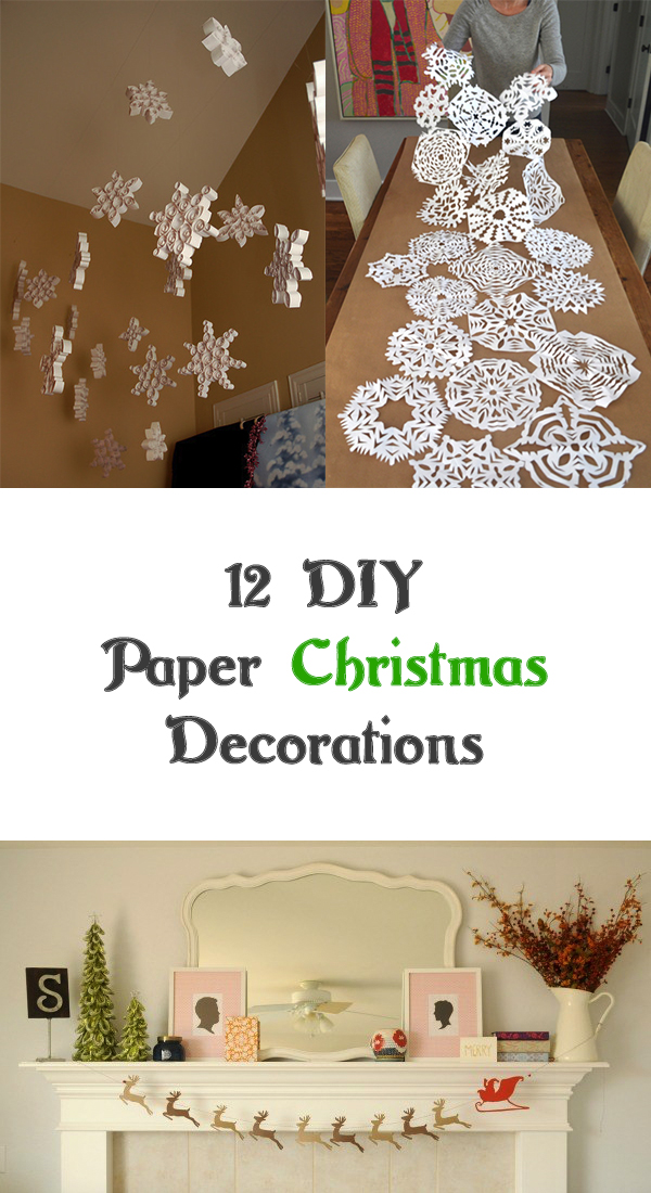 12 Easy DIY Paper Christmas Decorations
